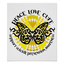 Suicide Prevention Tribal Butterfly Poster