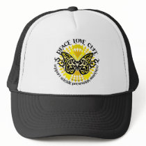 Suicide Prevention Tribal Butterfly Trucker Hat