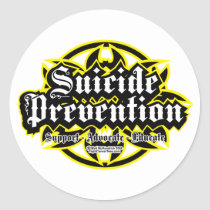 Suicide Prevention Tribal Classic Round Sticker