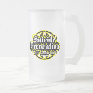 Suicide Prevention Tribal Frosted Glass Beer Mug