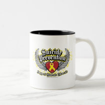 Suicide Prevention Wings Two-Tone Coffee Mug