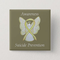 Suicide Prevention Yellow Awareness Ribbon Pins