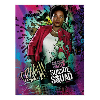 Suicide Squad | Amanda Waller Character Graffiti Postcard