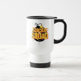 Suicide Squad   Bomb Logo Travel Mug