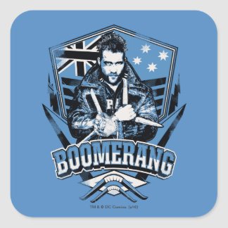 Suicide Squad | Boomerang Badge Square Sticker