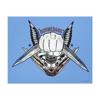 Suicide Squad | Boomerang Fist Tattoo Art Canvas Print