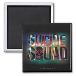Suicide Squad | Colorful Glow Logo 2 Inch Square Magnet