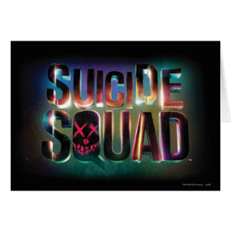 Suicide Squad | Colorful Glow Logo Card