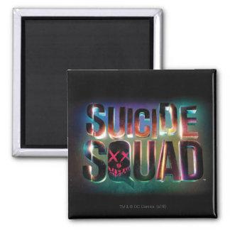 Suicide Squad   Colorful Glow Logo Magnet