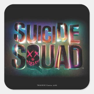 Suicide Squad | Colorful Glow Logo Square Sticker