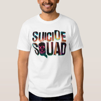 Suicide Squad | Colorful Glow Logo T-Shirt
