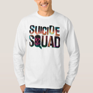 Suicide Squad | Colorful Glow Logo Tee Shirt