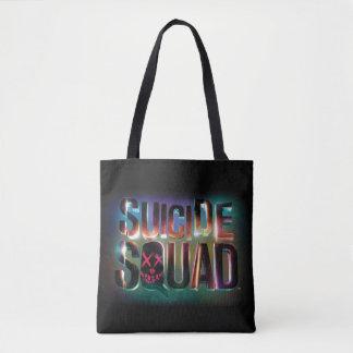 Suicide Squad | Colorful Glow Logo Tote Bag