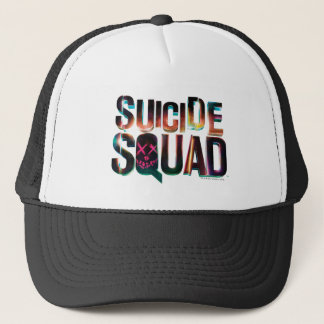 Suicide Squad | Colorful Glow Logo Trucker Hat