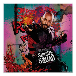 Suicide Squad | Deadshot Character Graffiti Poster