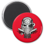 Suicide Squad | Deadshot Mask & Guns Tattoo Art 2 Inch Round Magnet