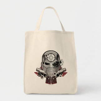 Suicide Squad | Deadshot Mask & Guns Tattoo Art Tote Bag