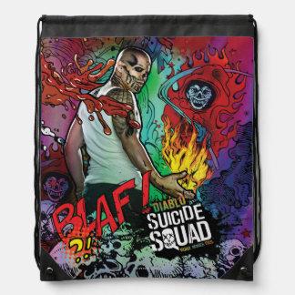 Suicide Squad | Diablo Character Graffiti Drawstring Bag