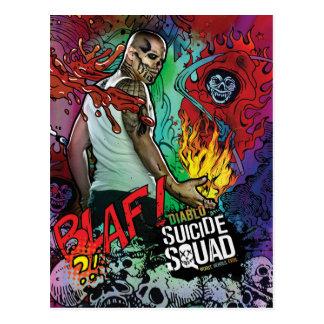 Suicide Squad | Diablo Character Graffiti Postcard