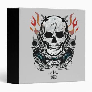 Suicide Squad | Diablo Skull & Flames Tattoo Art 3 Ring Binder