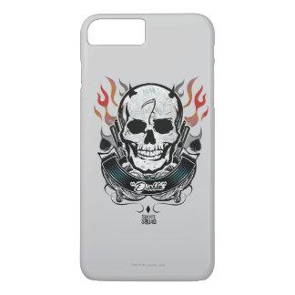 Suicide Squad | Diablo Skull & Flames Tattoo Art iPhone 8 Plus/7 Plus Case