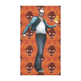 Suicide Squad   El Diablo Comic Book Art Canvas Print
