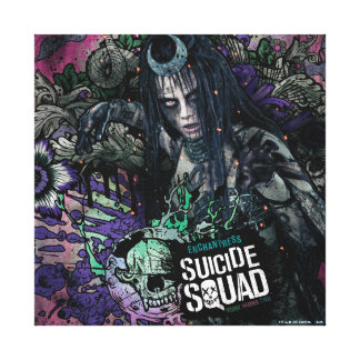 Suicide Squad | Enchantress Character Graffiti Canvas Print