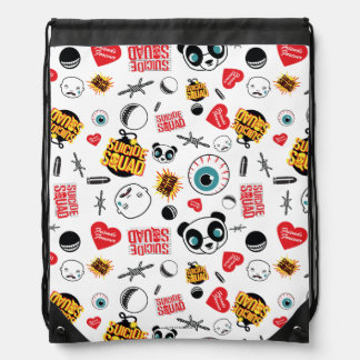 Suicide Squad | Friends Forever Pattern Drawstring Bag
