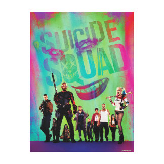 Suicide Squad | Green Joker & Squad Movie Poster Canvas Print