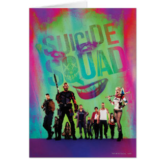 Suicide Squad | Green Joker & Squad Movie Poster Card