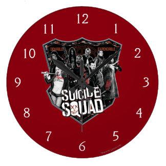 Suicide Squad | Group Badge Photo Large Clock