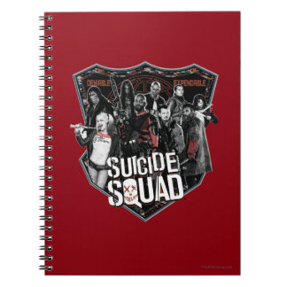 Suicide Squad | Group Badge Photo Notebook