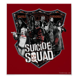 Suicide Squad | Group Badge Photo Poster