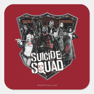 Suicide Squad | Group Badge Photo Square Sticker