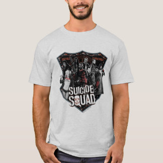 Suicide Squad | Group Badge Photo T-Shirt