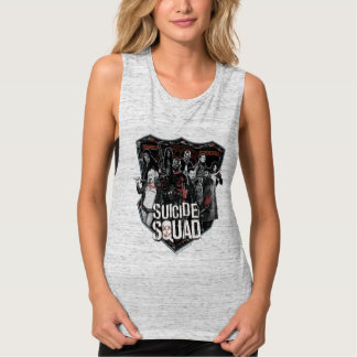 Suicide Squad | Group Badge Photo Tank Top