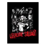 Suicide Squad   Grunge Group Photo Postcard