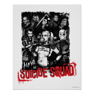 Suicide Squad | Grunge Group Photo Poster