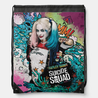 Suicide Squad | Harley Quinn Character Graffiti Drawstring Backpack