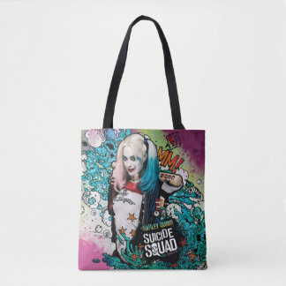 Suicide Squad | Harley Quinn Character Graffiti Tote Bag