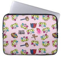 Suicide Squad | Harley Quinn Emoji Pattern Laptop Sleeve