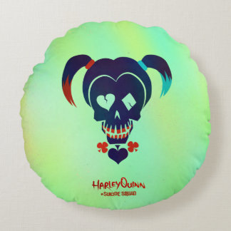 Suicide Squad | Harley Quinn Head Icon Round Pillow