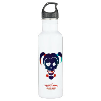Suicide Squad | Harley Quinn Head Icon Stainless Steel Water Bottle
