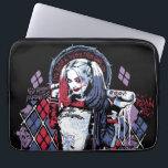 "Suicide Squad | Harley Quinn Inked Graffiti Computer Sleeve<br><div class=""desc"">Check out Harley Quinn posed with her bat in this running ink and diamond graphic,  featuring her phrases in the background and ""Daddy&#39;s lil Monster"".</div>"