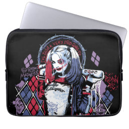 Suicide Squad | Harley Quinn Inked Graffiti Computer Sleeve