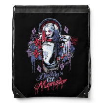 Suicide Squad | Harley Quinn Inked Graffiti Drawstring Bag