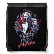Suicide Squad   Harley Quinn Inked Graffiti Drawstring Bag