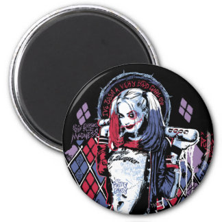 Suicide Squad | Harley Quinn Inked Graffiti Magnet