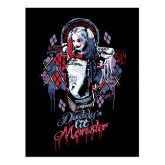 Suicide Squad | Harley Quinn Inked Graffiti Postcard