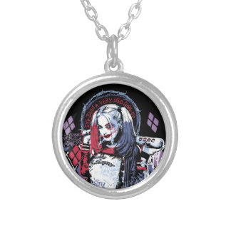Suicide Squad | Harley Quinn Inked Graffiti Silver Plated Necklace